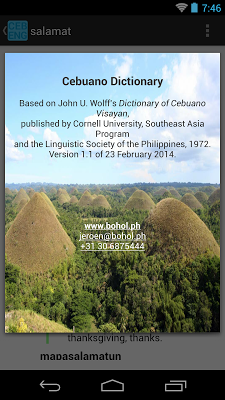 Cebuano-English Dictionary - screenshot