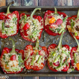 Quinoa Stuffed Bell Peppers with Goat Cheese