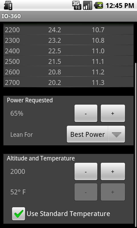 IO360 Power Calculator- screenshot