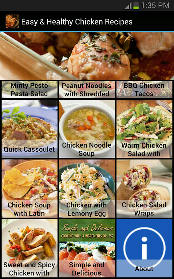 Easy & Healthy Chicken Recipes- screenshot