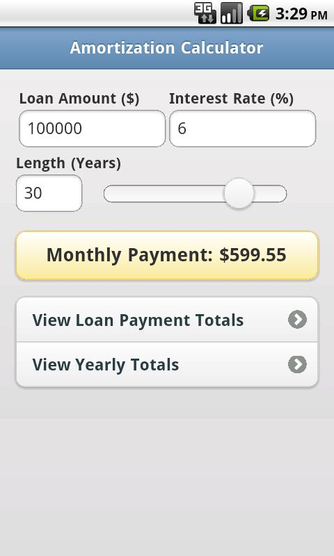 Free Amortization Calculator- screenshot