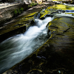 Flowing Water by Isaac Golding - Landscapes Waterscapes ( water, pennsylvania, rock run, mcintyre wild area, roaring branch, ralston )
