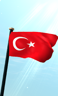 Turkey Flag 3D Free Wallpaper