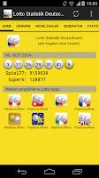 Screenshot of Lotto Statistik Deutschland