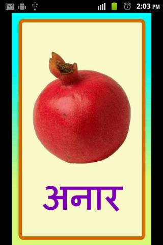 Fruits in Hindi