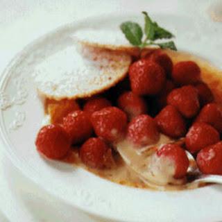 Vanilla Custard with Strawberries.