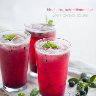 Fizzy Blueberry Meyer Lemonade.