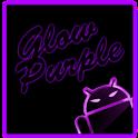 GOKeyboard Theme Glow Purple icon