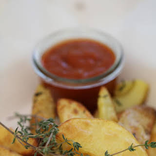Rustic Oven Fries with Barbecue Sauce by Christophe Michalak.