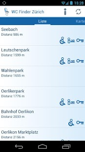 WC Finder Zürich- screenshot thumbnail