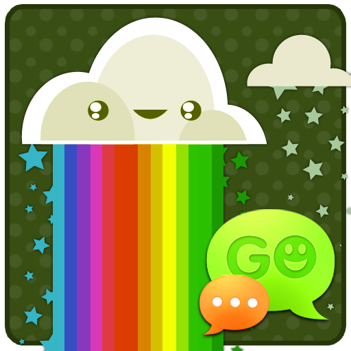 GO SMS Rainbow Meadow Theme LOGO-APP點子
