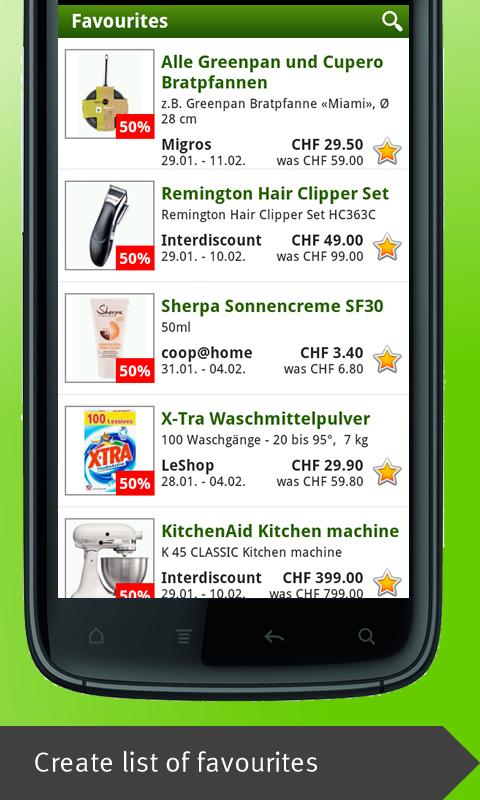 Smartshopper Switzerland - screenshot