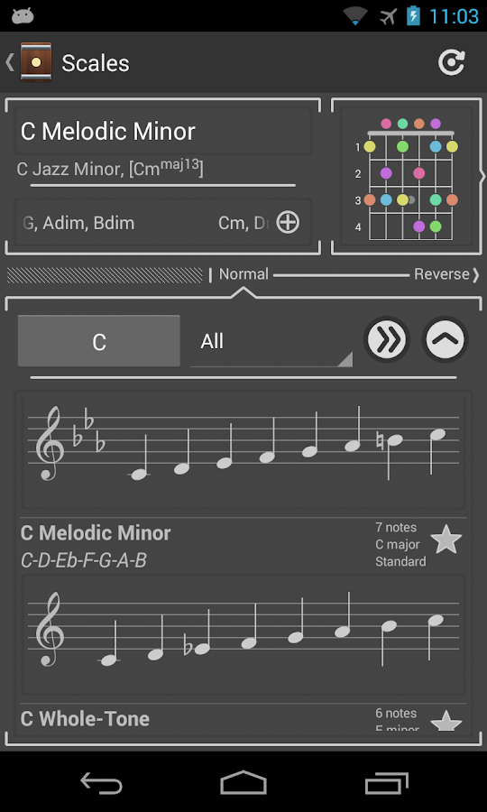 Chord! (Guitar Chord Finder) - screenshot
