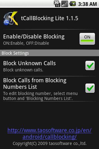 tCallBlocking Lite 1.5.1 Windows u7528 1