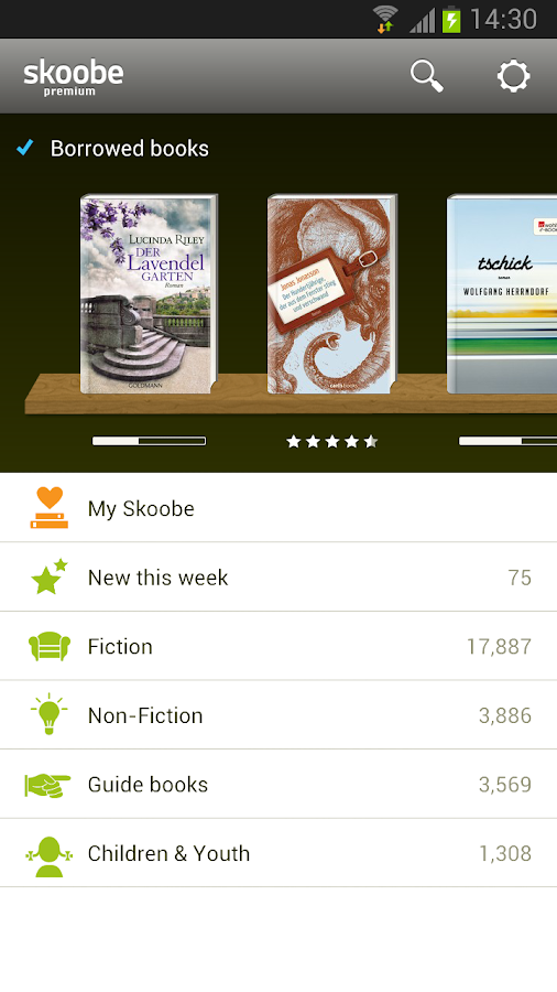 Skoobe - the digital library - screenshot