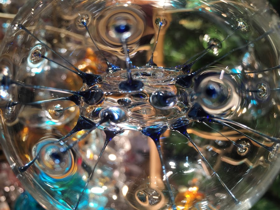Glass Ornament by VAM Photography - Abstract Macro ( abstract, macro, ornament, christmas, nyc,  )