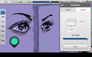 Screenshot of SketchBook Ink