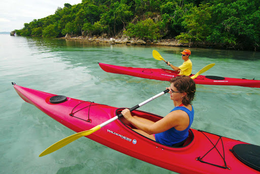 kayak-st-john-US-Virgin-Islands - Gather a group to kayak the peaceful waters of St. John in the U.S. Virgin Islands.