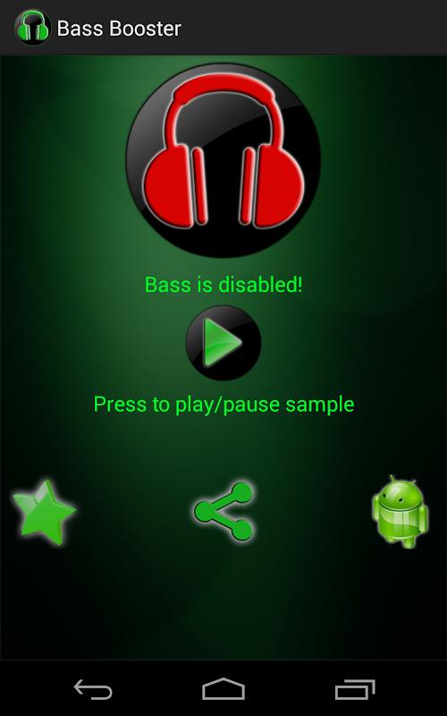 Bass booster на андроид