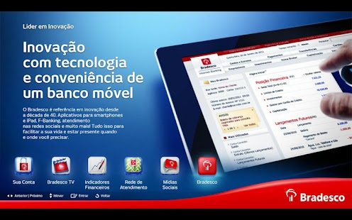 Bradesco para Google TV- screenshot thumbnail