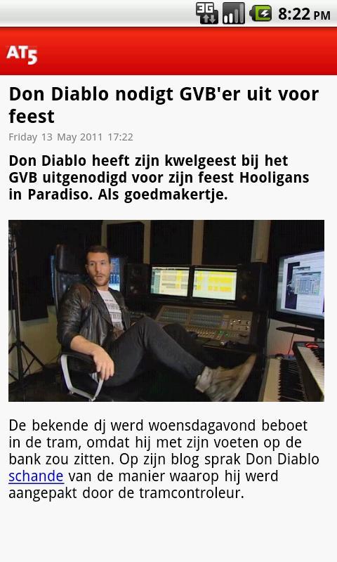 AT5 Nieuws - screenshot
