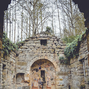 Church without roof by Zec Mladen - Buildings & Architecture Decaying & Abandoned ( stone church, church, churches, forest, architecture,  )