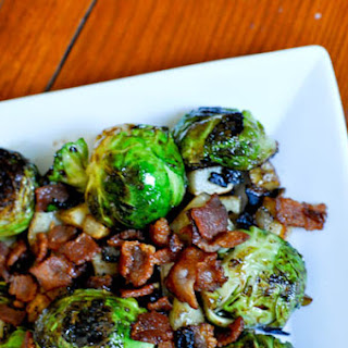 Potatoes, Bacon and Brussels Sprouts.