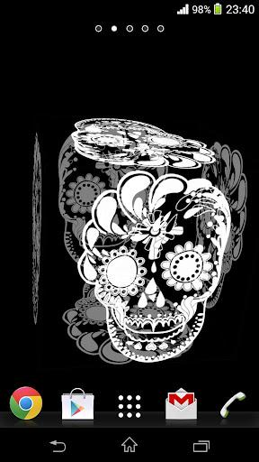 3D Mexican Skulls LWP