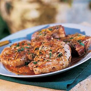 Pork Chops with Orange and Marsala (Costolette di Maiale all'Arancia).