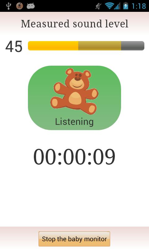 Baby Monitor - screenshot