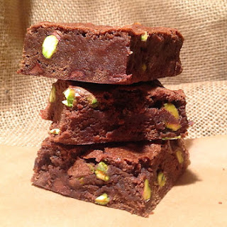 Pistachio Brownies.