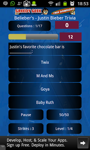 Belieber's- Justin Bieber Quiz