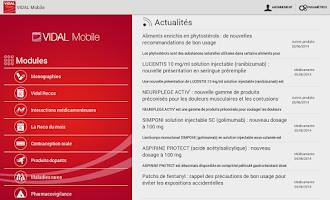 Screenshot of VIDAL Mobile