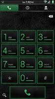 Screenshot of Stone Grunge Green CM11 Theme