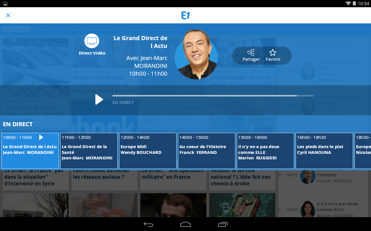 Europe 1 - screenshot