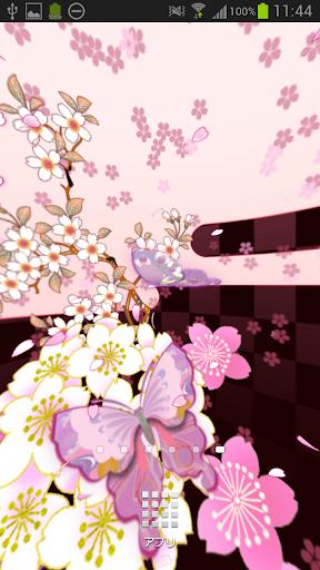 和桜ぱのらま模様