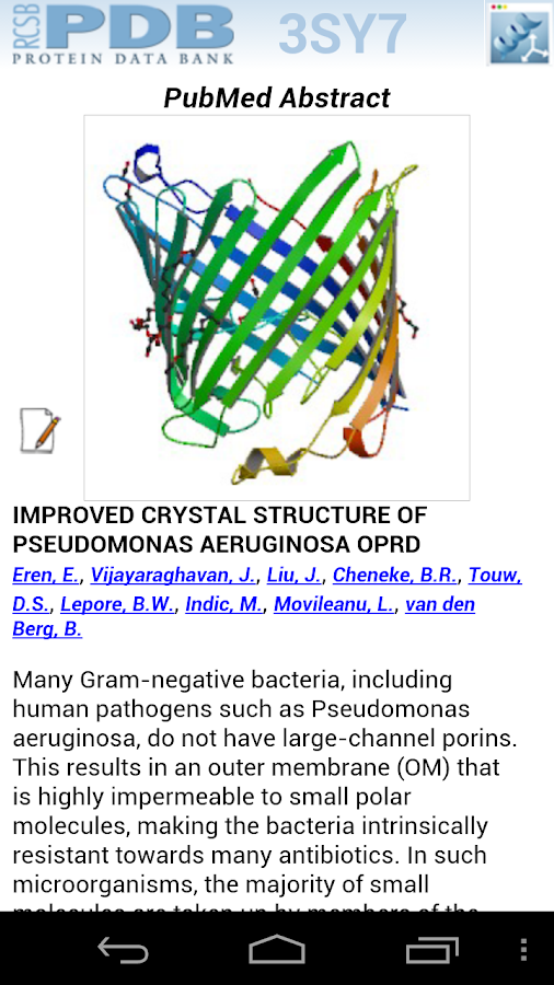 RCSB PDB Mobile- screenshot
