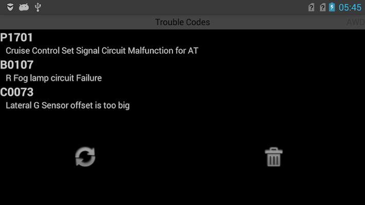 ActiveOBD for Subaru - screenshot