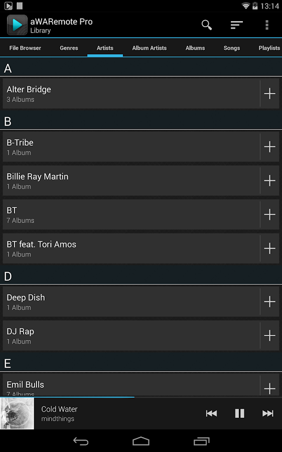 aWARemote Pro for Winamp®- screenshot