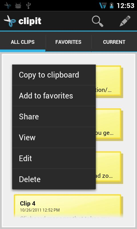 ClipIT - Clipboard Manager- screenshot