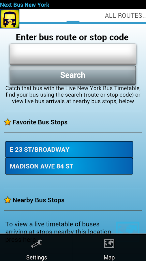 Next Bus New York - screenshot