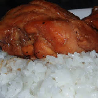 Adobo Chicken with Ginger.