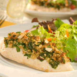 Spinach & Almond Topped Chicken.