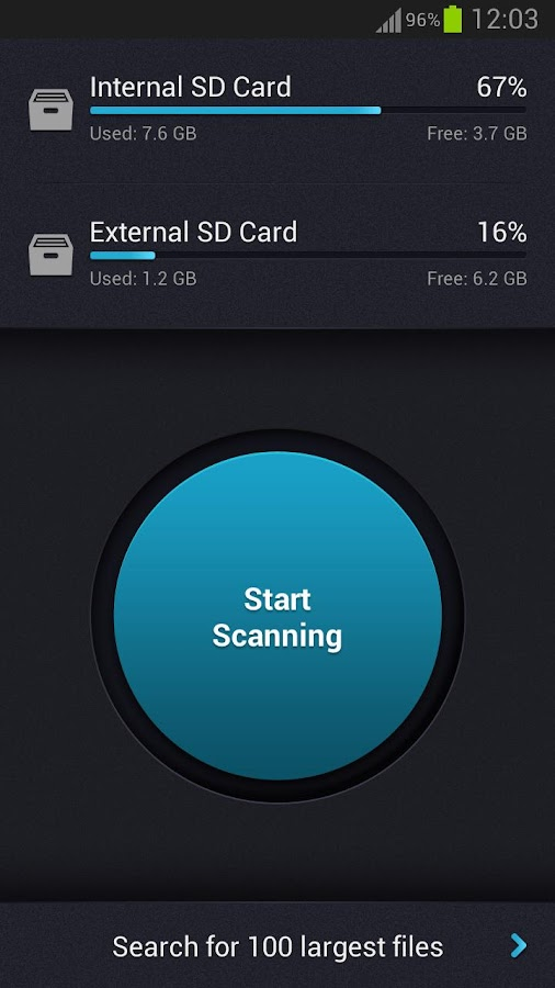 SD Card Cleaner - screenshot