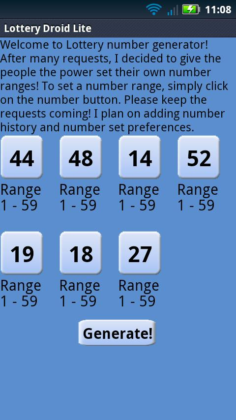 NJ Numbers Droid Lite - screenshot