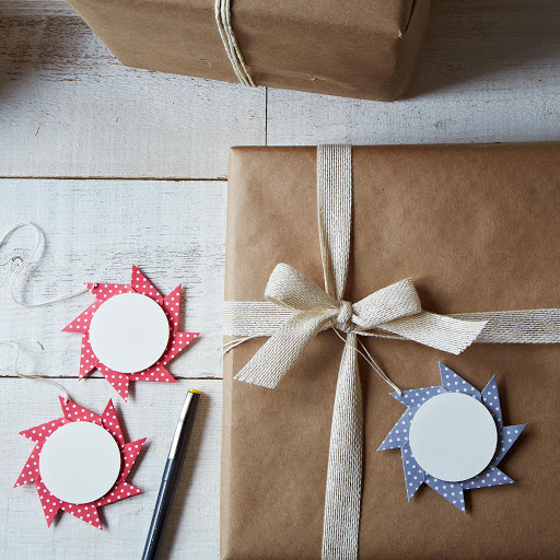 Origami Pinwheel Star Gift Tags (set of 4)