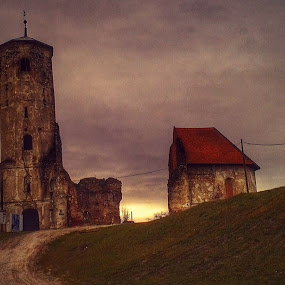 Old Church by Nat Bolfan-Stosic - Buildings & Architecture Places of Worship ( hill, willage, old, church, ruins )