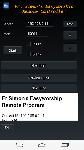 Easyworship Remote Client