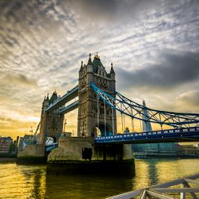 Tower Bridge by Simon Gelfand - Buildings & Architecture Bridges & Suspended Structures ( london, sunset, bridge )
