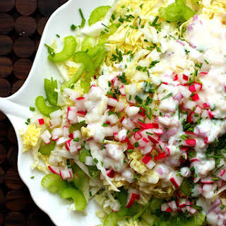Napa Cabbage Salad with Buttermilk Dressing.